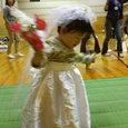 仮装レースで花嫁だ