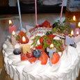 早めのBDケーキ